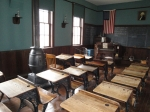 A classroom from the late 1800s, in the schoolhouse at Carillon Park