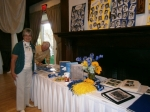 Connie (Hermann) Guy, Larry Dynes at the memorobilia table